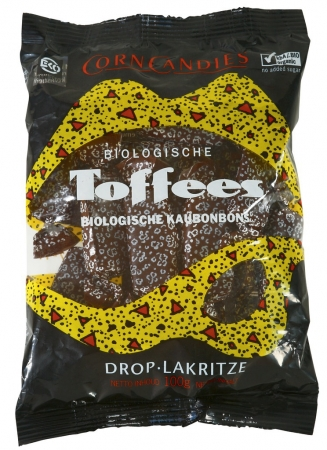 Biologische Lakritztoffees, Corn Candies, 100 g